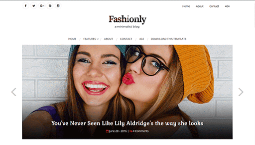 fashionly feminine blogger theme