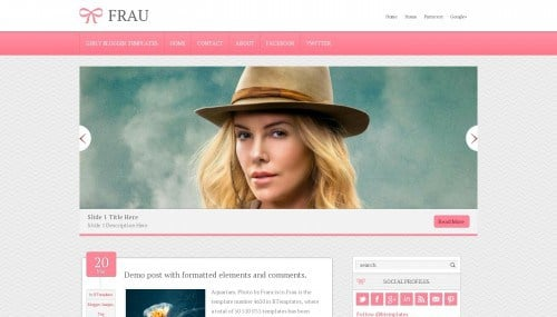 Best Feminine Blogger Themes 1