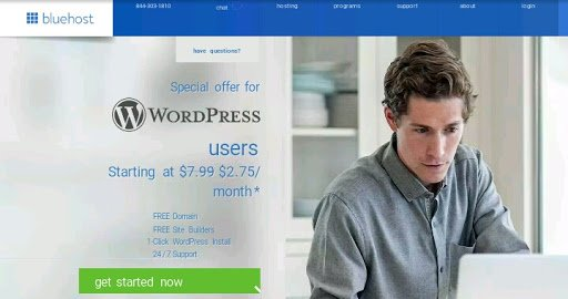 bluehost self hosted wordpress blog host