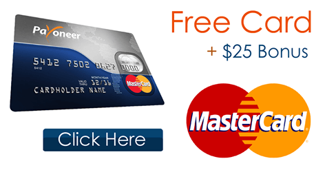 Join Payoneer and get 25usd sign up bonus