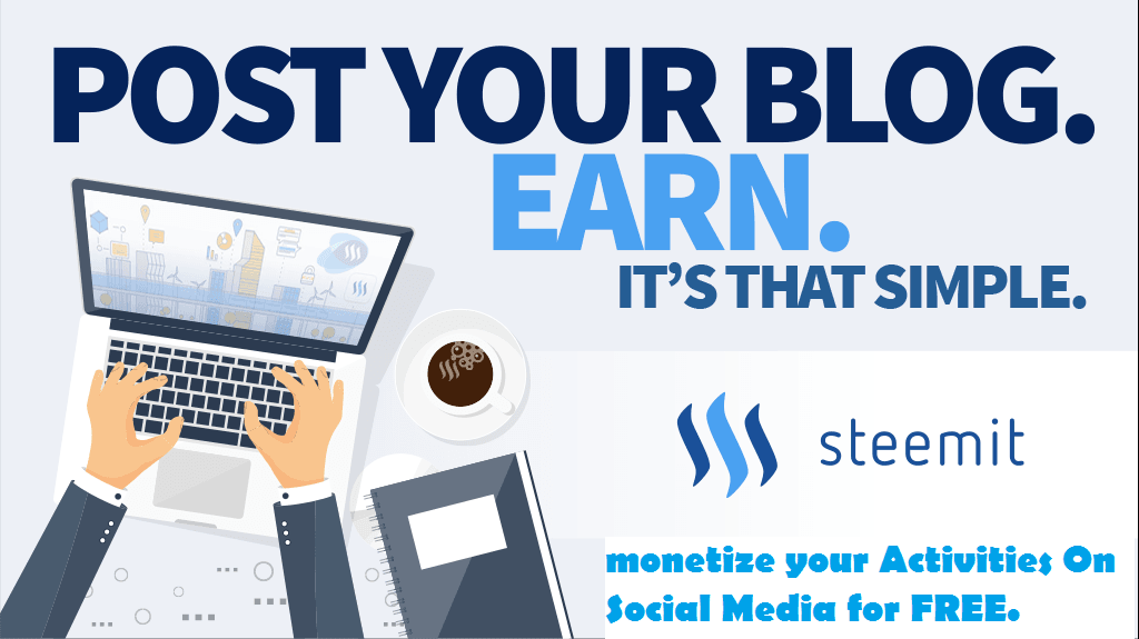 Make money online with steemit