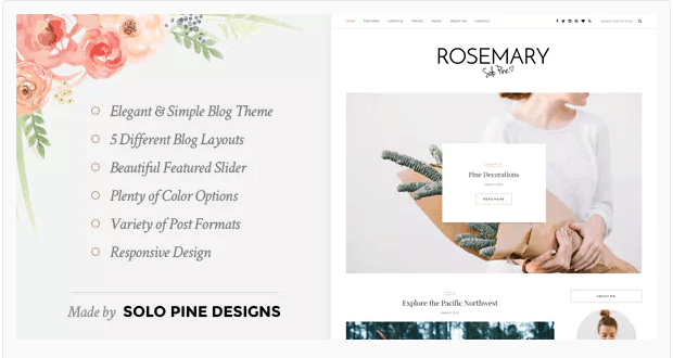 Rosemary wordpress theme