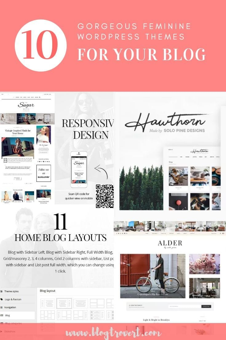 10 Gorgeous Feminine WordPress Themes For Lifestyle Blogs 1