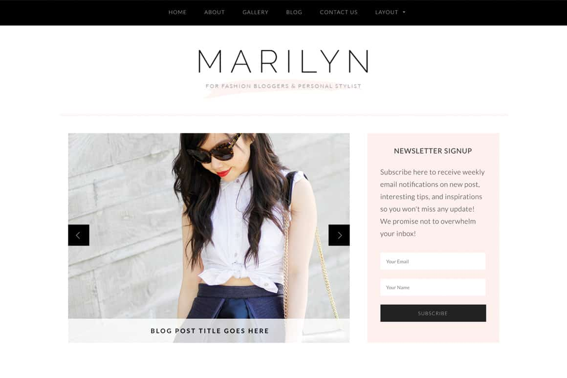 10 Gorgeous Feminine WordPress Themes For Lifestyle Blogs 3