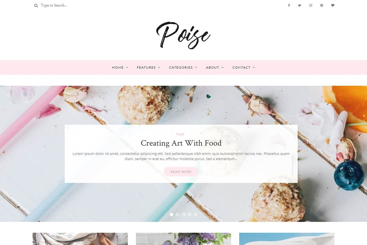 Poise wordpress theme