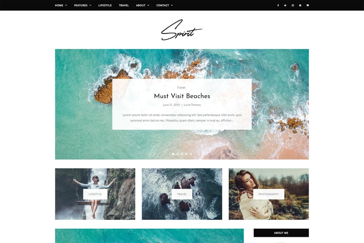 10 Gorgeous Feminine WordPress Themes For Lifestyle Blogs 9